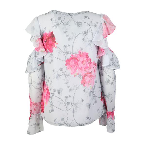 Ted Baker Womens Grey Sharaa Babylon Ruffle Crop Sleeve Blouse main image