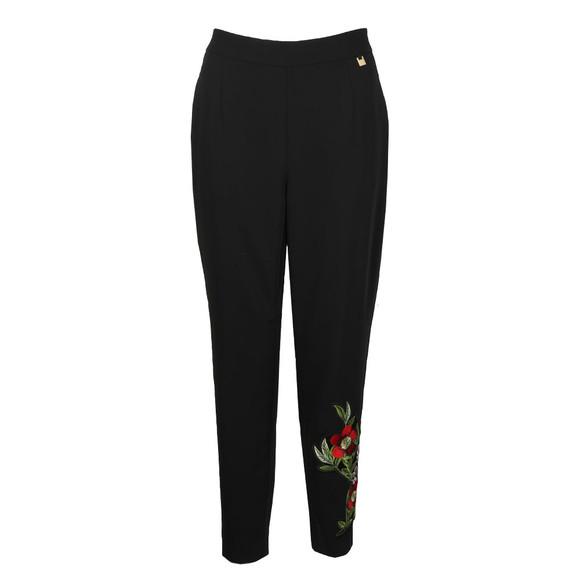 Ted Baker Womens Black Madlyne Floral Detailing Trouser main image