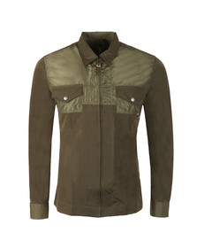 Pretty Green Mens Green Zip Through Overshirt
