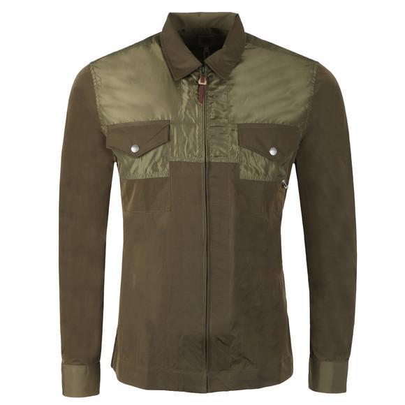 Pretty Green Mens Green Zip Through Overshirt main image