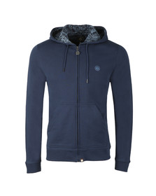 Pretty Green Mens Blue Hooded Sweatshirt