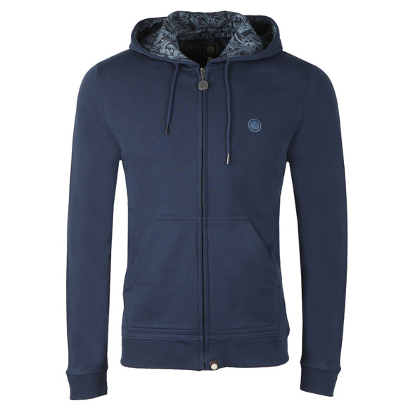 Pretty Green Mens Blue Hooded Sweatshirt main image