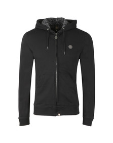 Pretty Green Mens Black Hooded Sweatshirt