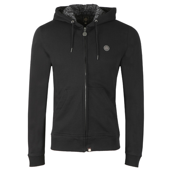 Pretty Green Mens Black Hooded Sweatshirt main image