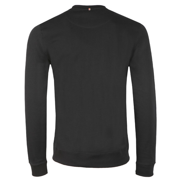 Pretty Green Mens Black Loopback Cotton Crew Neck Sweat main image