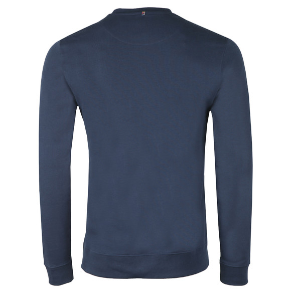 Pretty Green Mens Blue Loopback Cotton Crew Neck Sweat main image