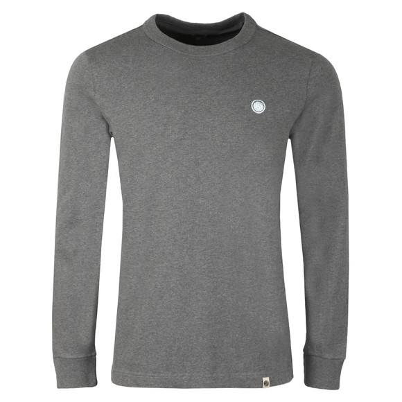 Pretty Green Mens Grey Long Sleeve T-Shirt main image