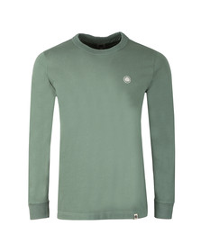 Pretty Green Mens Green Long Sleeve T-Shirt