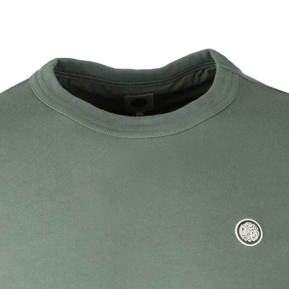 Pretty Green Mens Green Long Sleeve T-Shirt main image