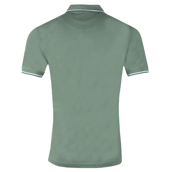 Pretty Green Mens Green Tipped Pique Polo Shirt main image