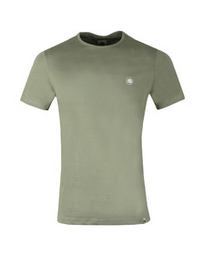 Pretty Green Mens Green Cotton T-Shirt