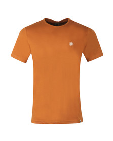 Pretty Green Mens Orange Cotton T-Shirt