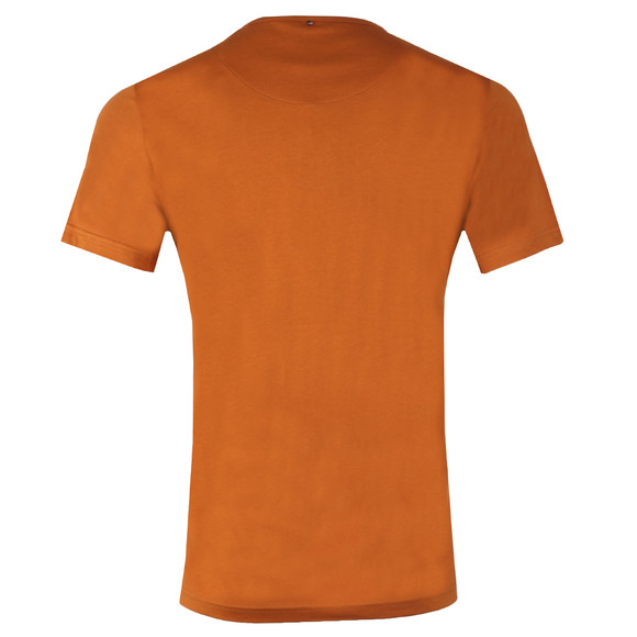 Pretty Green Mens Orange Cotton T-Shirt main image