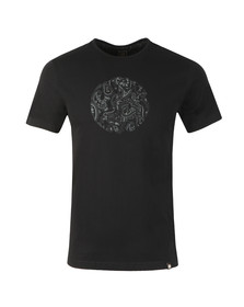 Pretty Green Mens Black Paisley Print Logo T-Shirt