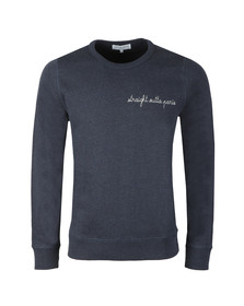 Maison Labiche Mens Blue Straight Outta Paris Sweatshirt