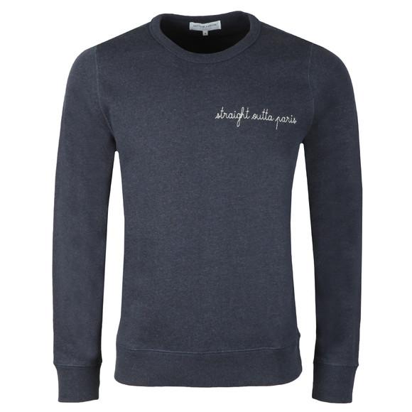 Maison Labiche Mens Blue Straight Outta Paris Sweatshirt main image