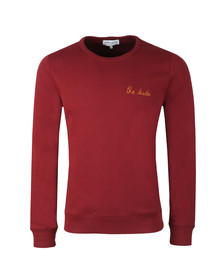 Maison Labiche Mens Red The Dude Sweatshirt