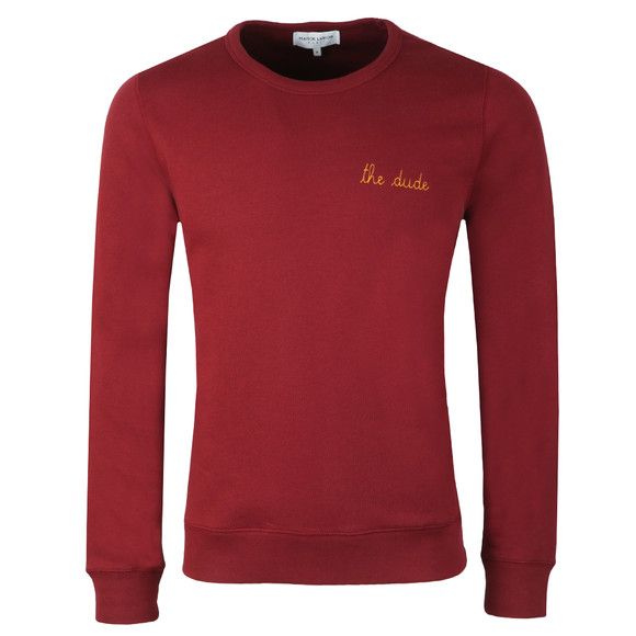 Maison Labiche Mens Red The Dude Sweatshirt main image