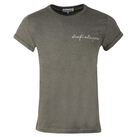Maison Labiche Mens Grey Straight Outta Paris T Shirt
