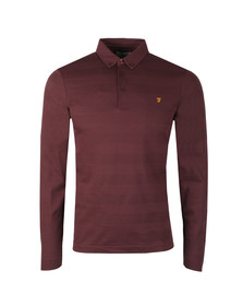 Farah Mens Red Stapleton L/S Polo