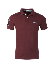 Superdry Mens Red Classic Pique Polo