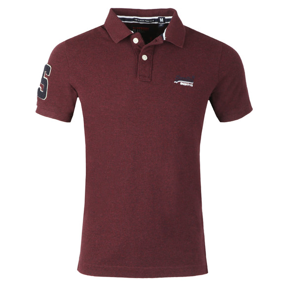 Superdry Mens Red Classic Pique Polo main image
