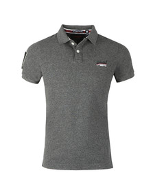 Superdry Mens Grey Classic Pique Polo