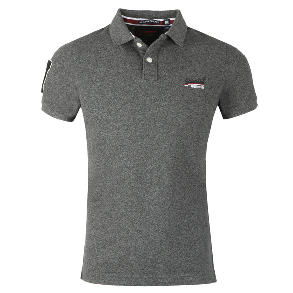 Superdry Mens Grey Classic Pique Polo main image