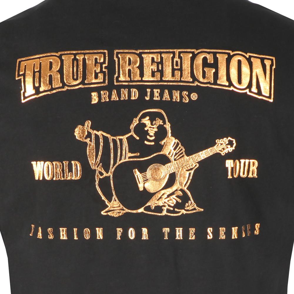 c8f42784b True Religion Metallic Gold Buddha T Shirt | Oxygen Clothing