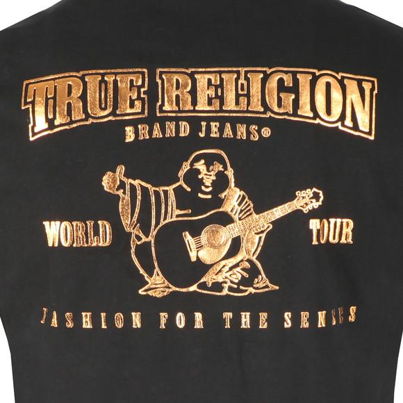 True Religion Mens Black Metallic Gold Buddha T Shirt main image