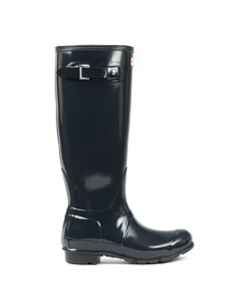 Hunter Womens Blue Original Gloss Wellington