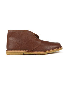 Pretty Green Mens Brown Leather Desert Boot