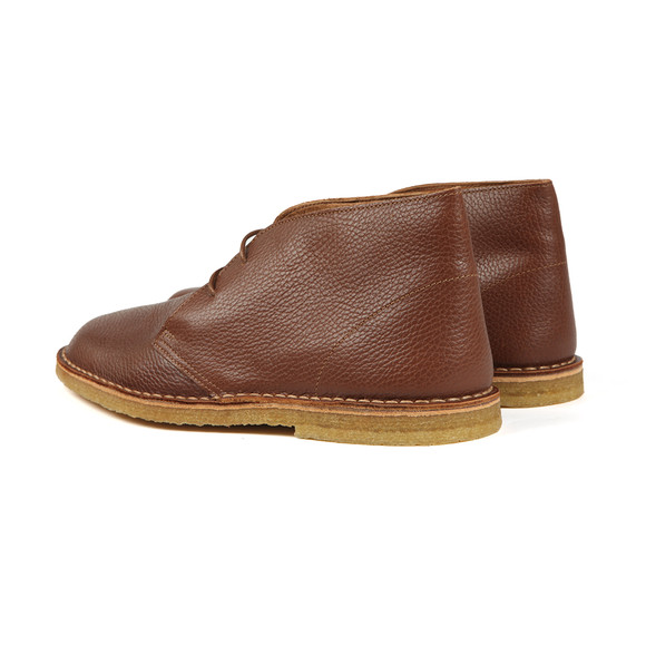 Pretty Green Mens Brown Leather Desert Boot main image