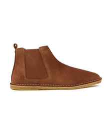 Pretty Green Mens Brown Suede Chelsea Boot