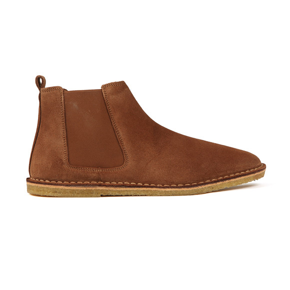 Pretty Green Mens Brown Suede Chelsea Boot main image