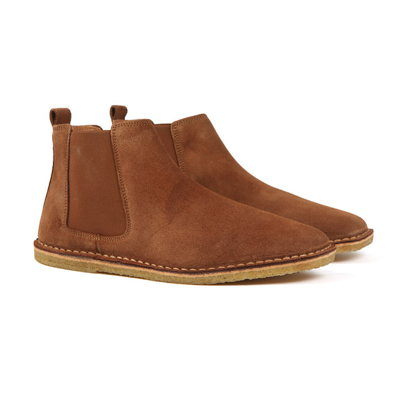 6fe37363f84f Pretty Green Mens Brown Suede Chelsea Boot main image