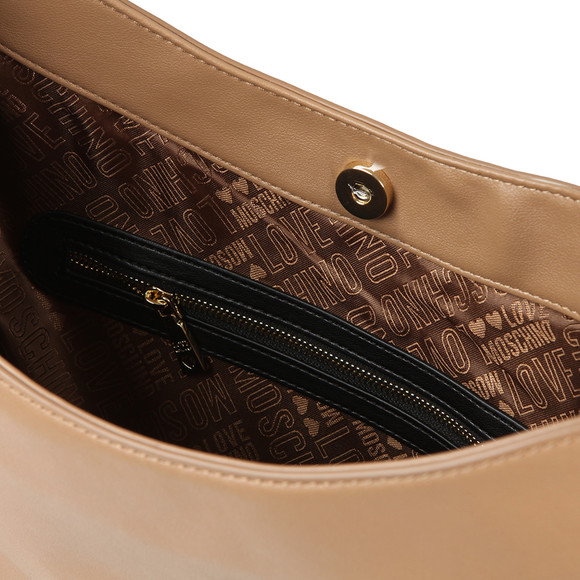 Love Moschino Womens Brown Borsa Soft Grain PU Bag main image