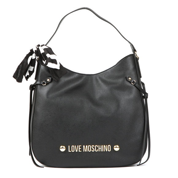 Love Moschino Womens Black Borsa Soft Grain PU Bag main image