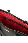 Love Moschino Womens Black Borsa Pin Grain PU Bag