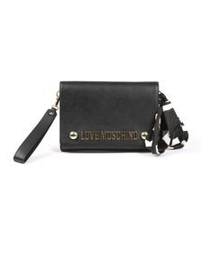 Love Moschino Womens Black Borsa Soft Grain PU Shoulder Bag