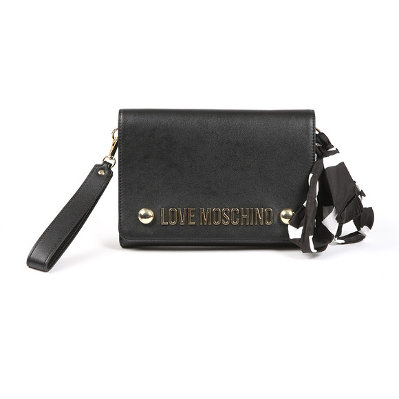 Love Moschino Womens Black Borsa Soft Grain PU Shoulder Bag main image