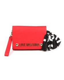 Love Moschino Womens Red Borsa Soft Grain PU Shoulder Bag