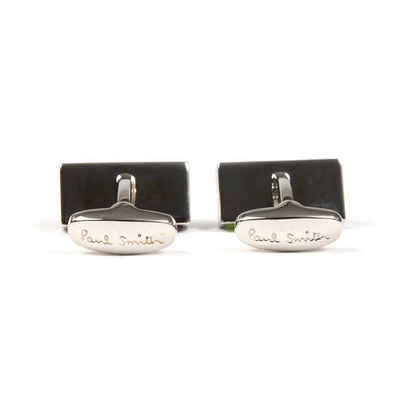 Paul Smith Mens Silver Logo Cufflink main image