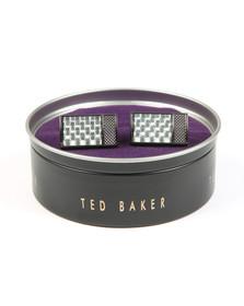 Ted Baker Mens Grey Bogard Knupled Carbon Fibre Cufflinks