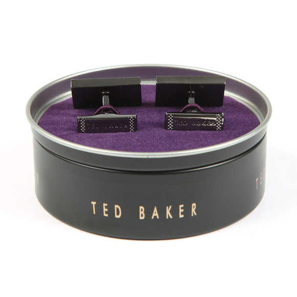Ted Baker Mens Grey Bogard Knupled Carbon Fibre Cufflinks main image