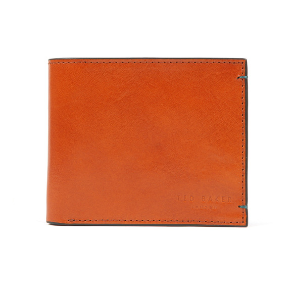 Ted Baker Mens Brown Logans Nubuck Internals Bifold Wallet main image