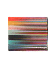 Paul Smith Mens Multicoloured Mixed Art Stripe Wallet