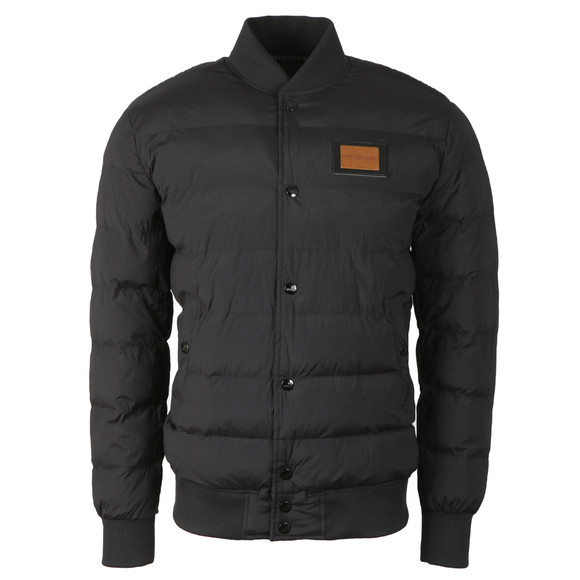 Love Moschino Mens Black Quilted Bomber Jacket