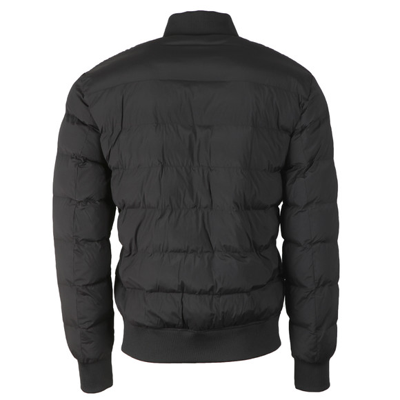Love Moschino Mens Black Quilted Bomber Jacket main image