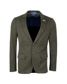 Scotch & Soda Mens Green Half Lined Knitted Blazer